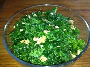 Looks Cooked Raw Kale Salad