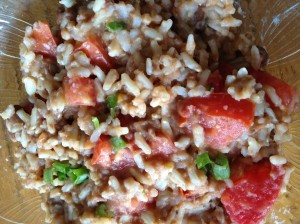 Quick and Easy Rice Beans and Tomato