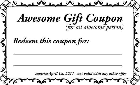 homemade gift vouchers templates – Make Your Own Gift Voucher Template