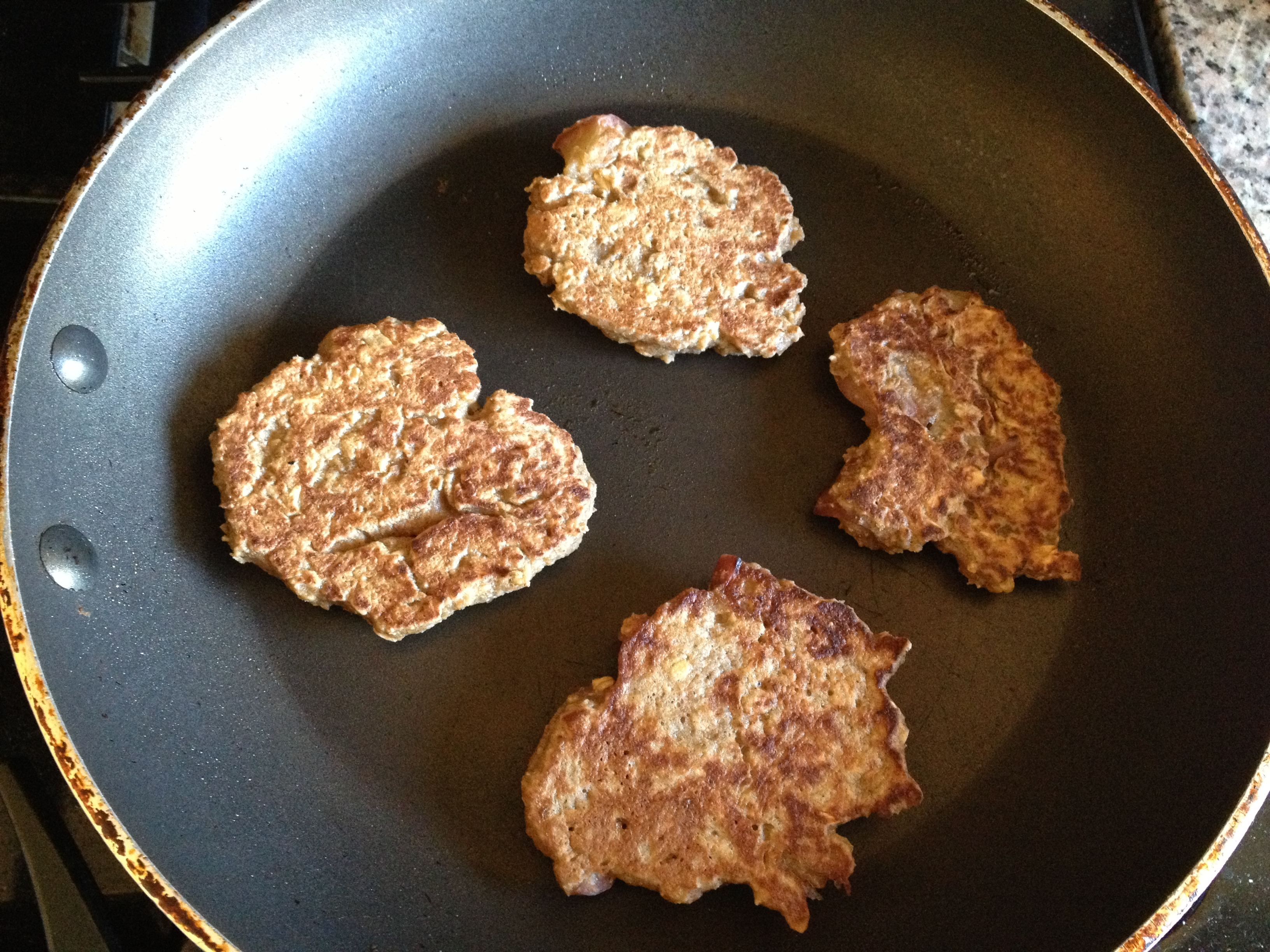 Whole Grain Apple Oatmeal Pancakes Recipe — Dishmaps