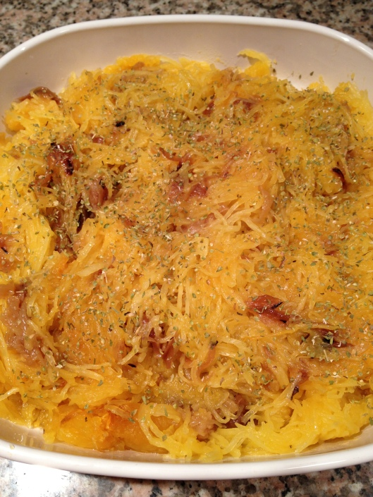 Spaghetti Squash with Caramelized Onions